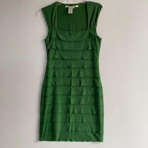 NWOT Max Studio size Medium green cotton dress